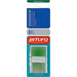 ESCOVA INTERDENTAL BITUFO CILÍNDRICA FINA 4MM
