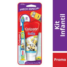 KIT INFANTIL COLGATE SMILES COM ESCOVA E CREME DENTAL