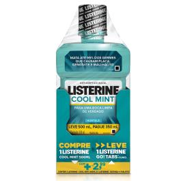 LISTERINE KIT COOL MINT COM 500ML E GO TABS 4 UNIDADES